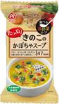 たっぷりきのこのかぼちゃスープ