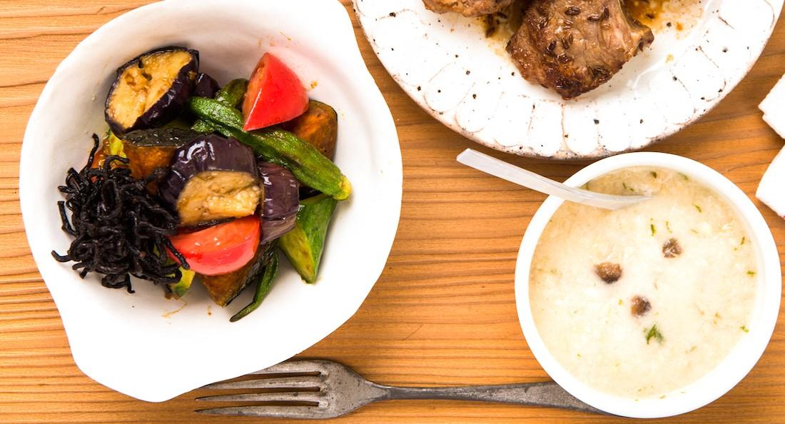 ひじきと夏野菜のバルサミコ和え