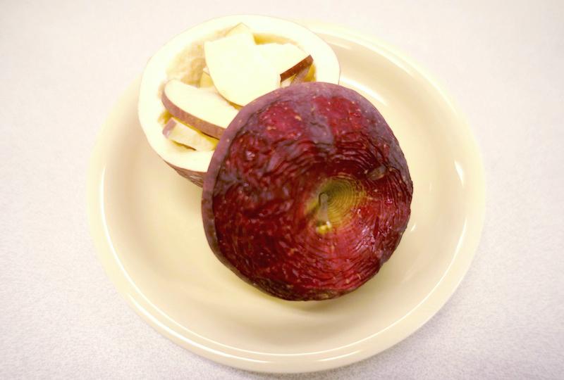 フリーズドライ加工のりんご