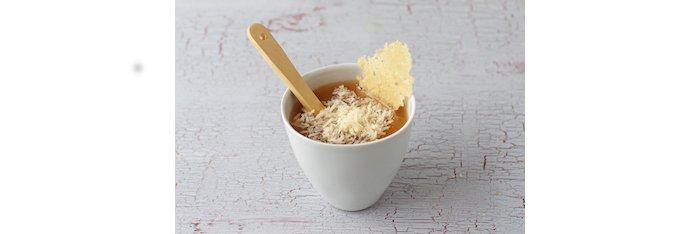 ミソスープとチーズ