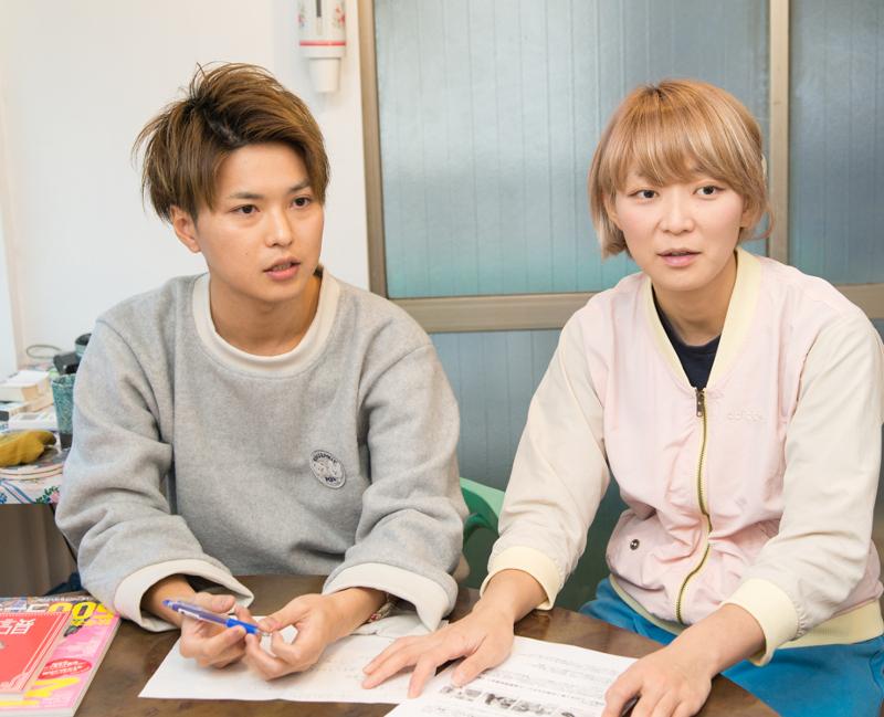 LIP編集部 西山美耶さんと田中佑典さん