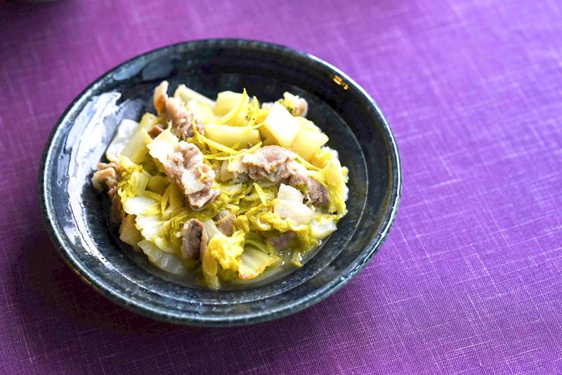 白菜と豚バラ肉のくたくた煮
