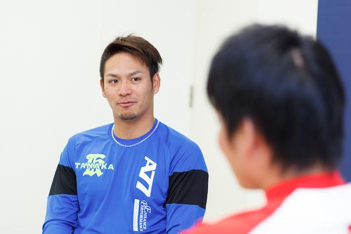 丸佳浩選手と田中広輔選手