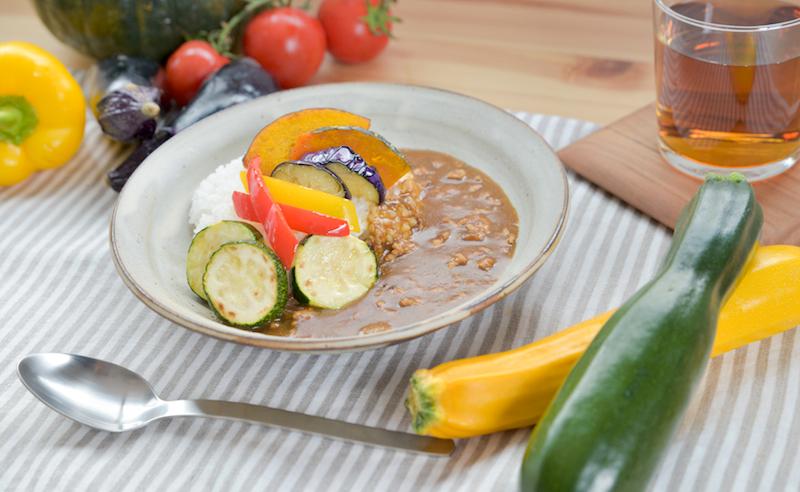 ズッキーニと夏野菜のカレー