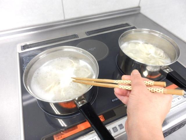 うどんの調理