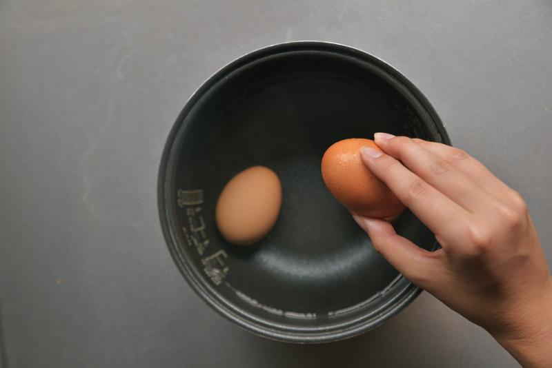 炊飯釜で保温する