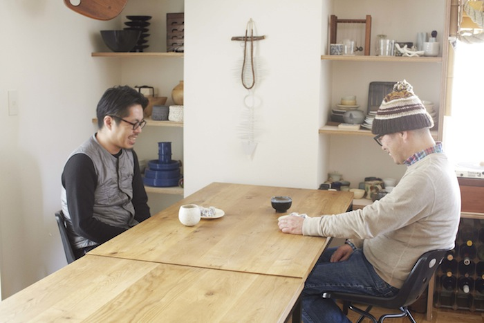 岡本仁と坂口修一郎