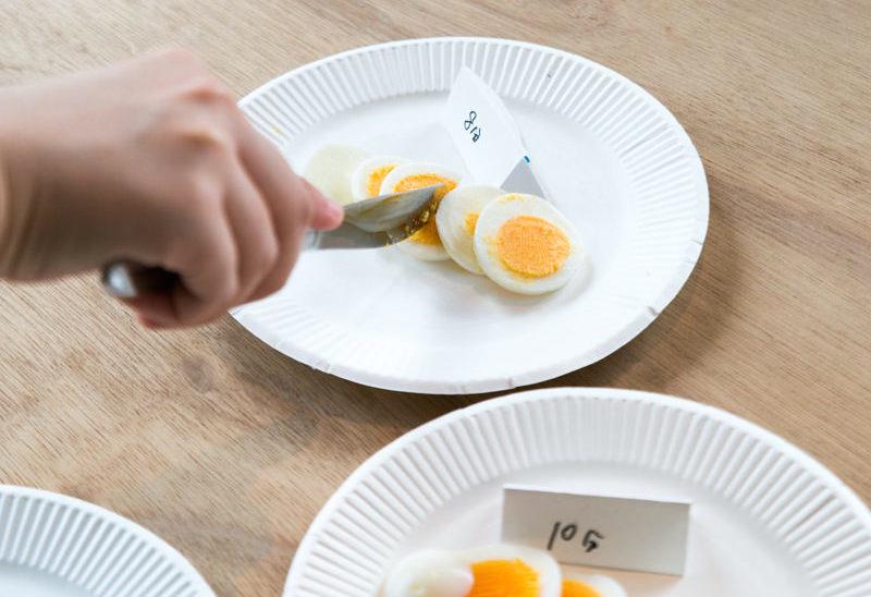 ゆで卵の茹で時間比較