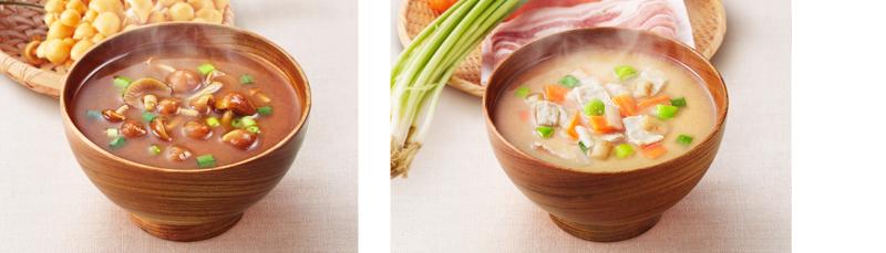 アマノフーズいつものおみそ汁(なめこ・豚汁)