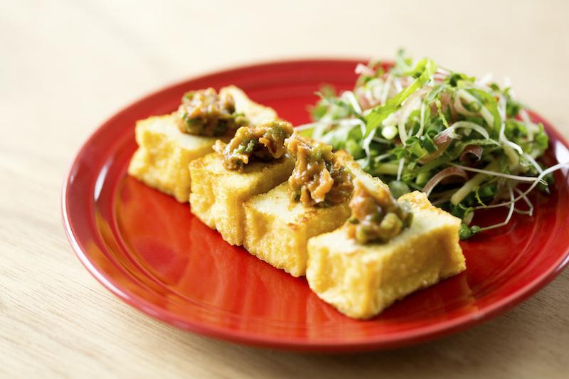 五味薬味アレンジ厚焼き豆腐