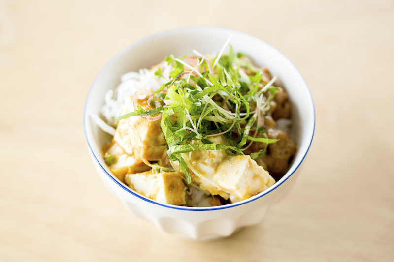 豆腐と納豆のヘルシー丼