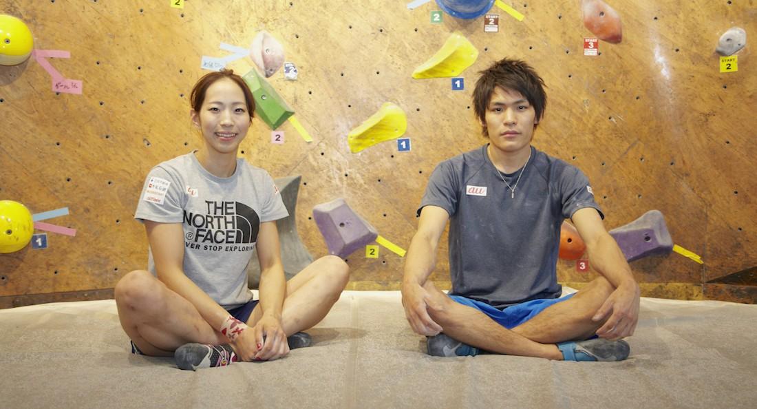 野口啓代選手と楢﨑智亜選手