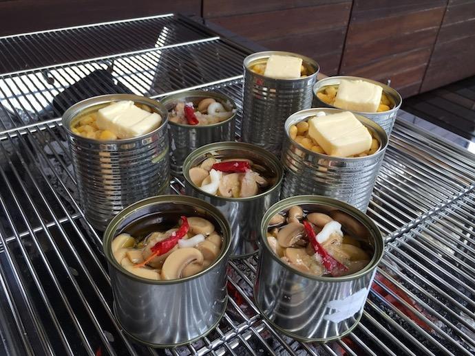 バーベキューマッシュルーム缶のアヒージョ