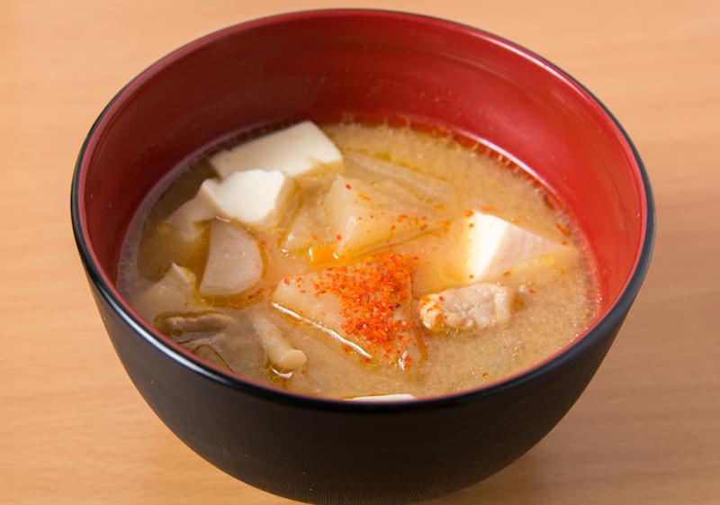 唐辛子とお味噌汁