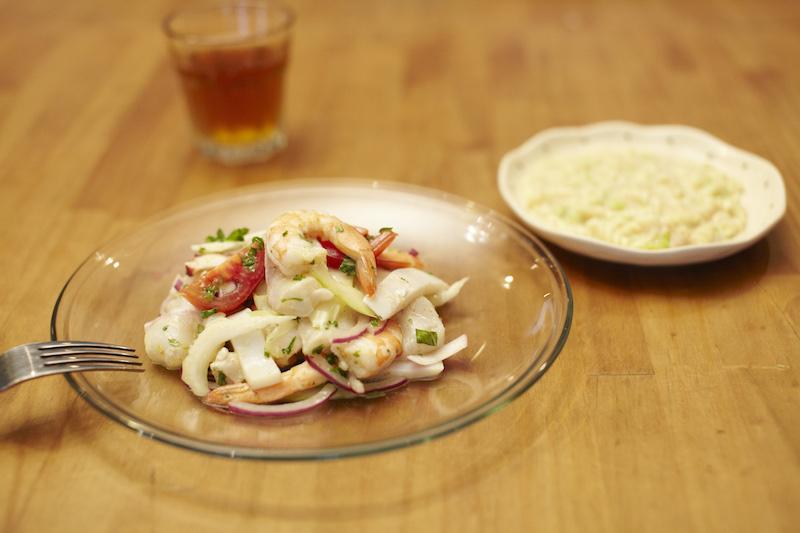 魚介と野菜のカルパッチョ
