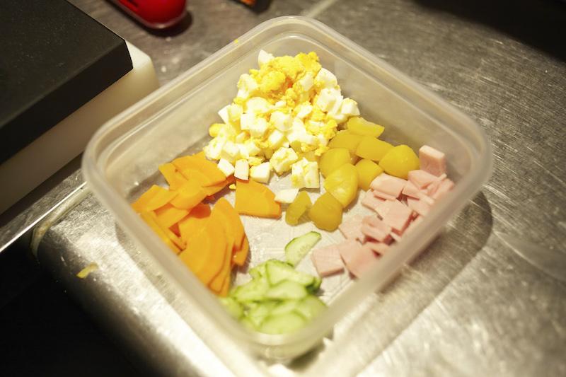 ポテトサラダの具材