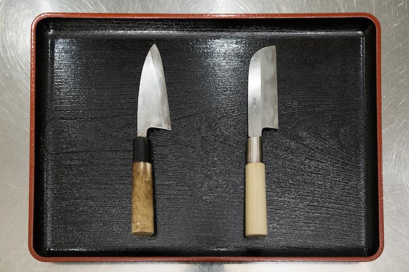 出刃包丁と栗むき包丁