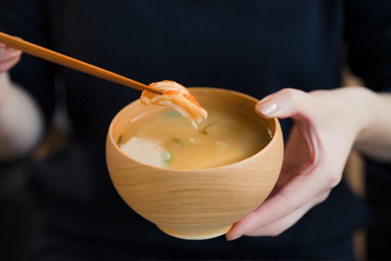 蟹の味噌汁
