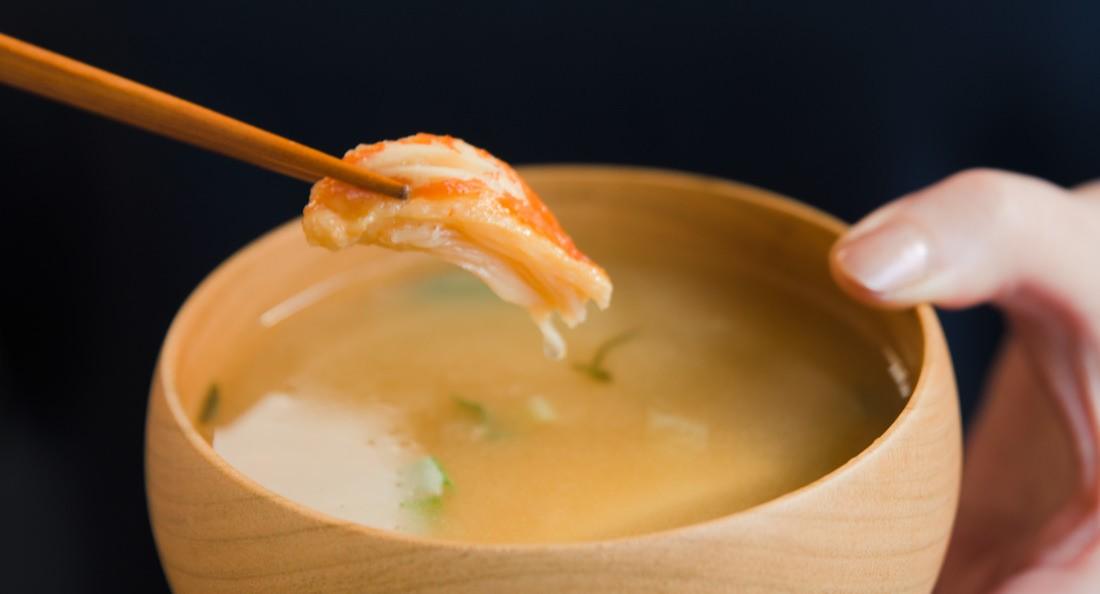 アンテナショップ限定「蟹のみそ汁」