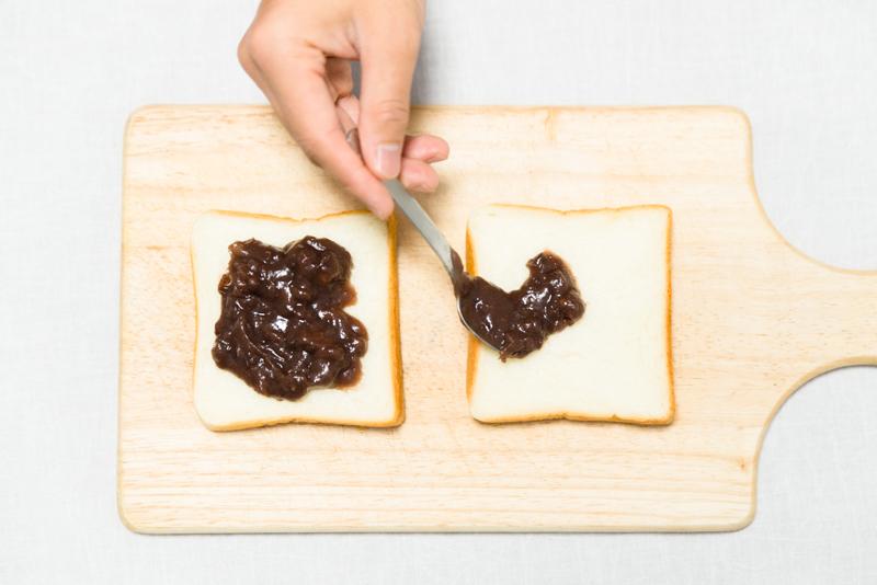 あんこバタートースト作り方