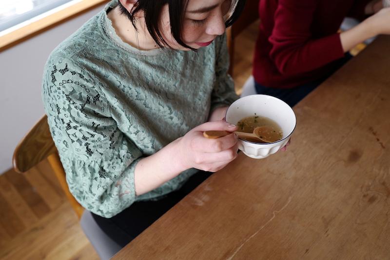 アマノフーズガーリックスープ試食