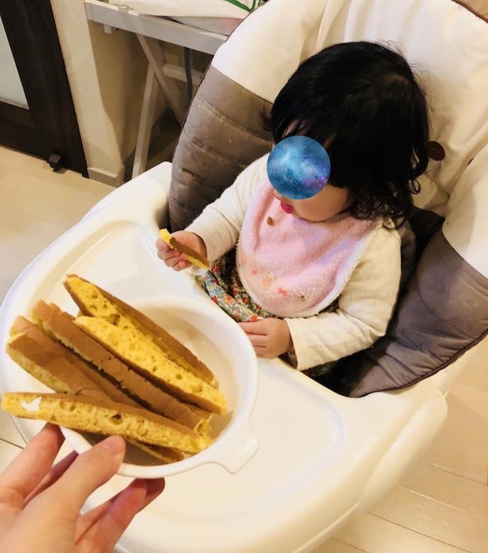 娘とパンケーキ