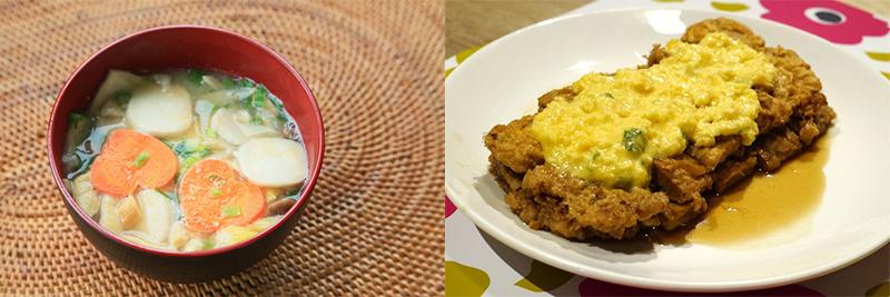 芋煮&チキン南蛮