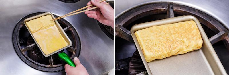 とろろ入り卵焼きのレシピ工程