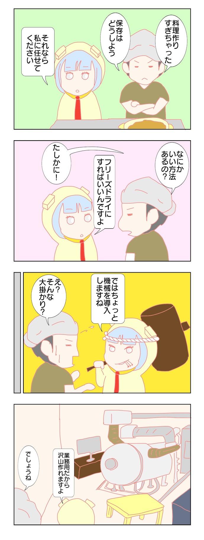 キムケン四コマ漫画