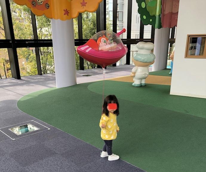アンパンマンミュージアムで遊ぶ娘