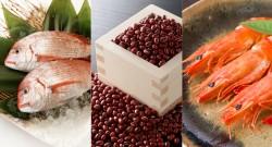 鯛と小豆と海老