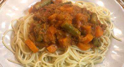 野菜ゴロゴロパスタ