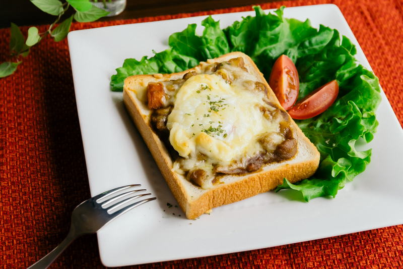 温玉のせカレーチーズトースト