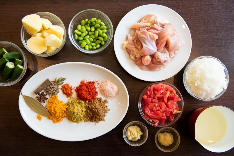 「チキンと野菜のホームスタイルカレー」の材料