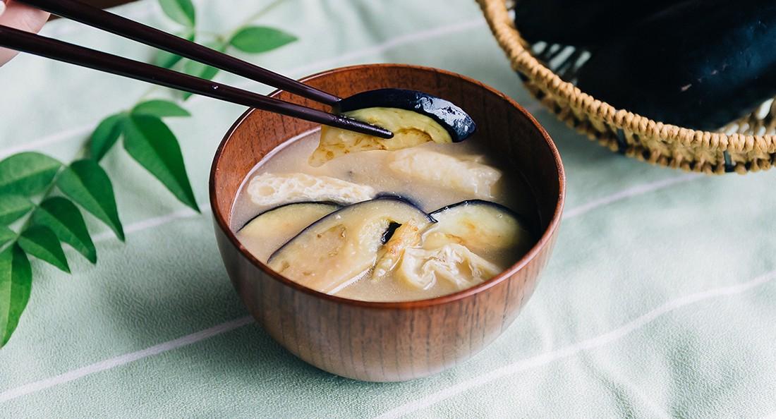 なすのお味噌汁|基本レシピ
