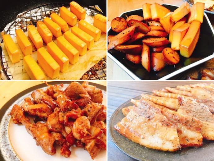 燻製料理の数々