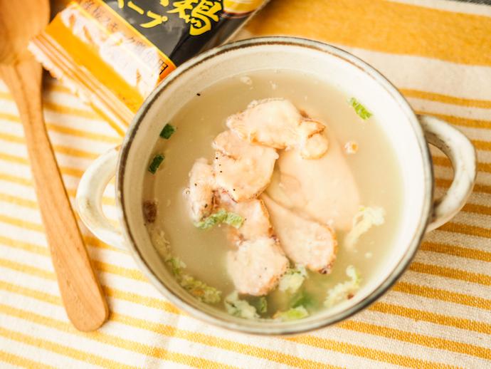 アマノフーズのフリーズドライ「the うまみ燻製鶏スープ」