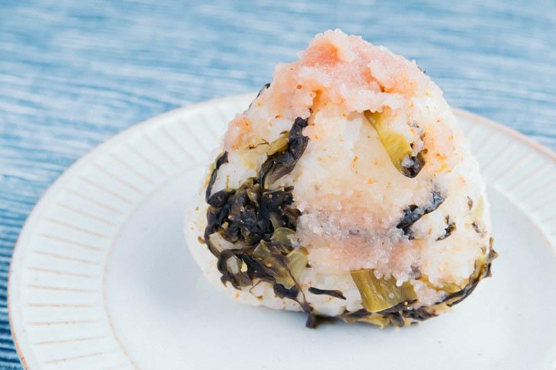 明太高菜おむすび