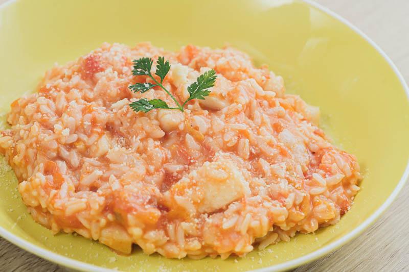 シーフードの旨味&トマトの酸味を楽しむ♪  トマトとシーフードのリゾット