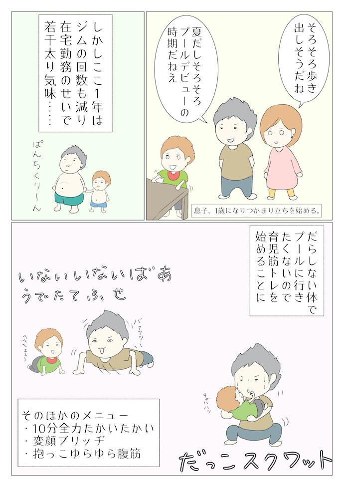 「マッスル冷やし中華」漫画