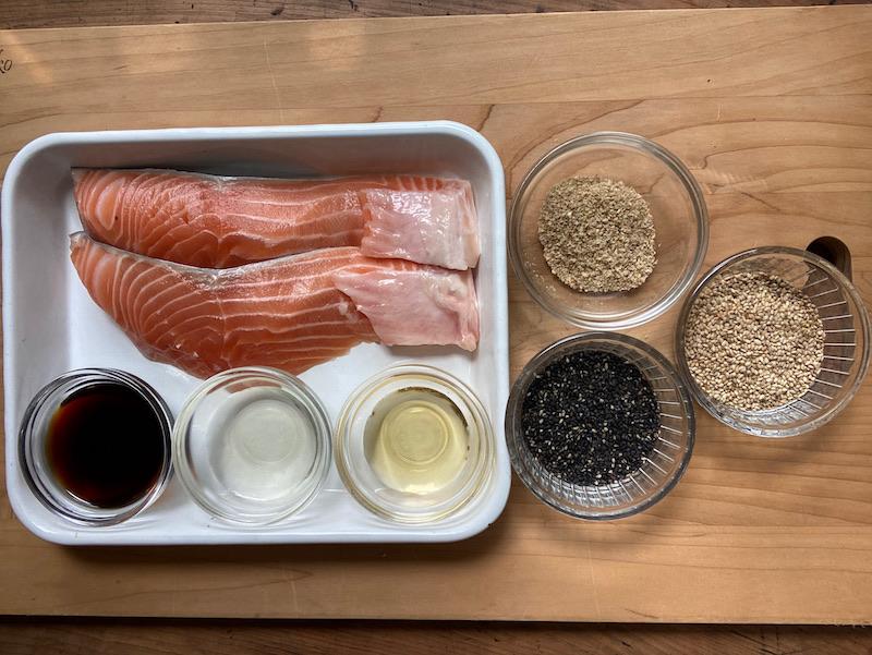 鮭のごま焼き 材料