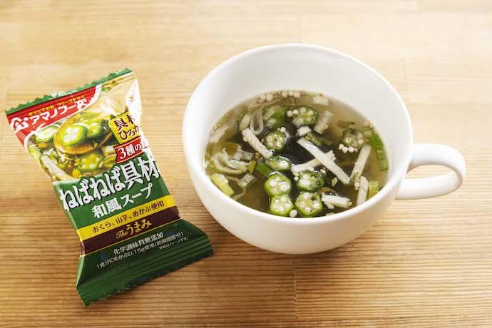 ネバネバ具材の和風スープ