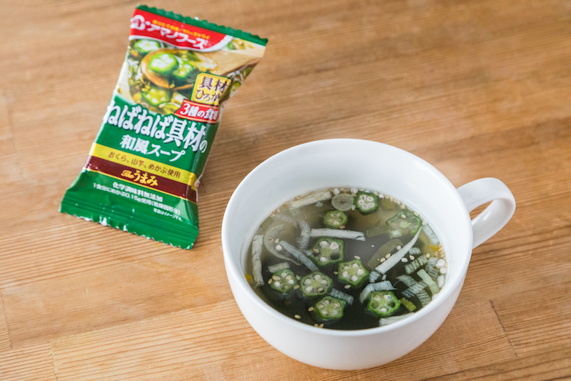 Theうまみねばねば具材の和風スープ